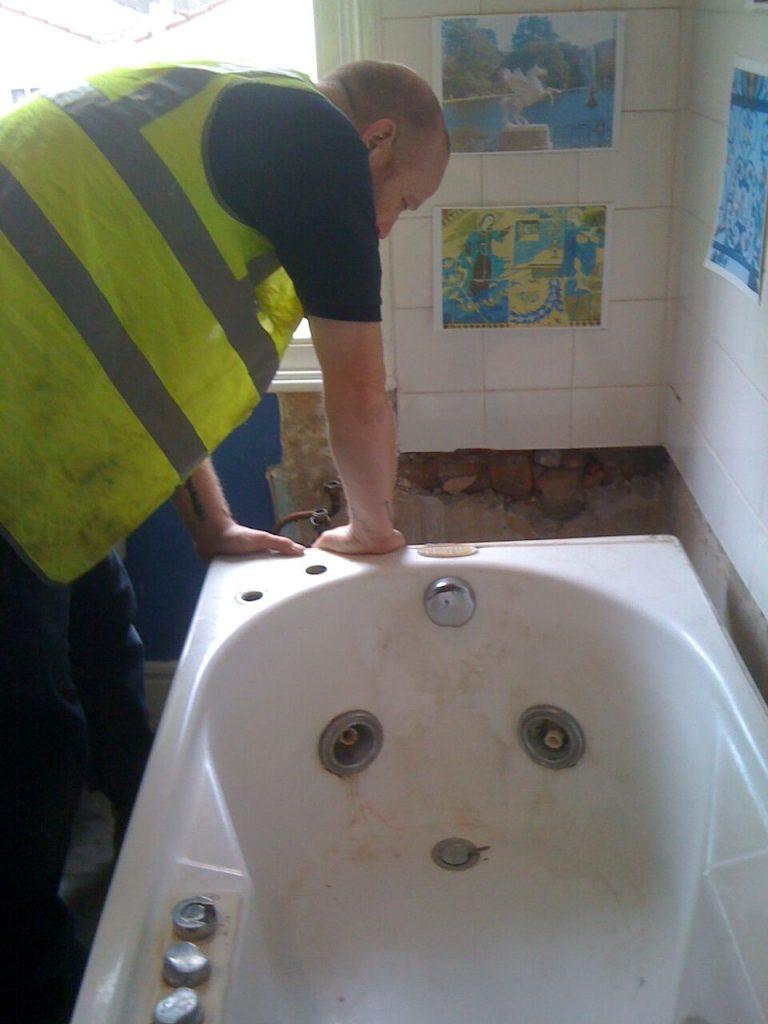 Plumbing in a bath